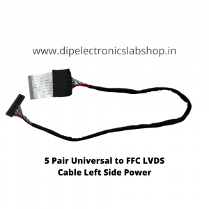 5 Pair Universal to FFC LVDS Cable Left Side Power